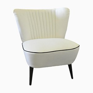Vintage White Cocktail Chair, 1950s