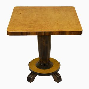 Art Deco Birch Pedestal Coffee Table, 1930s