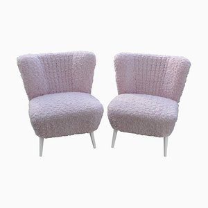 Pink Faux Fur Cocktail Chairs, Set of 2