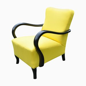 Art Deco Yellow Armchair, 1920s