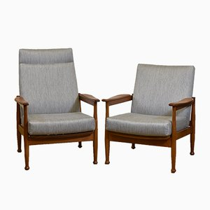 Mid-Century Manhattan Adjustable Lounge Chairs by George Fejer & Eric Phamphilon for Guy Rogers, 1960s, Set of 2