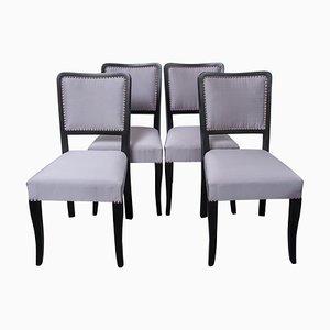 Art Deco Esszimmerstühle, 4er Set