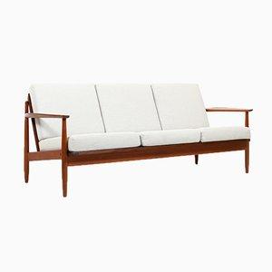 Dänisches Mid-Century 3-Sitzer Sofa aus Teak
