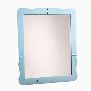 Antiker türkiser Spiegel mit lackiertem Rahmen