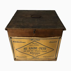 French Wooden Hat Box, 1940s