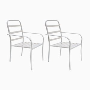 Stackable Hyperleggera Garden Armchairs with Elastic Strings, 1970s, Set of 2