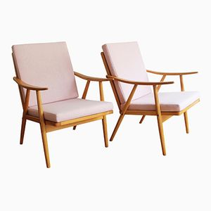 Mid-Century Armchairs by Antonín Šuman for TON, 1960s, Set of 2