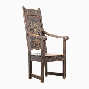 Antiker Armlehnstuhl aus Eiche