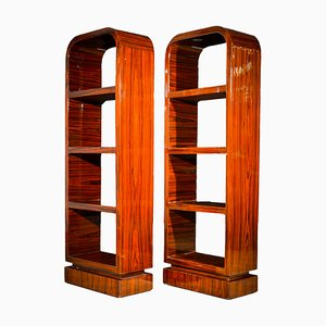 Art Deco French Rosewood Bookcases, 1930s, Set of 2