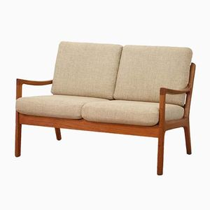 Vintage 2-Sitzer Senator Sofa aus Teak von Ole Wanscher für Cado, 1960er
