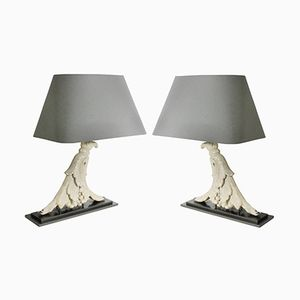 Architectural Table Lamps, 1920s, Set of 2