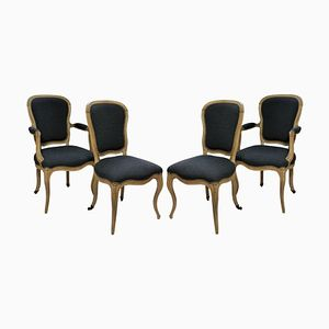 Antique French Dining Chairs, 1780s, Set of 4