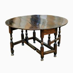 Antique Charles II Oak & Elm Dining Table