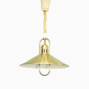 Lampe à Suspension Ajustable en Or, 1960s