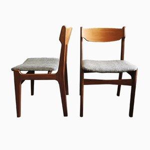 Chaises en Teck par Erik Buch, Danemark, 1960s, Set de 2