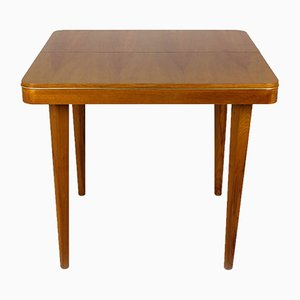 Square Oak Veneered Folding Table from Jitona, 1960s