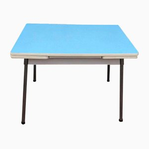 Sky Blue Formica Table, 1960s