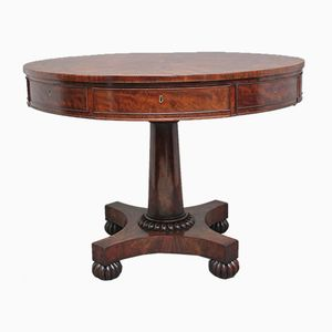 19th-Century Mahogany Drum Table