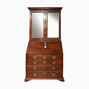 Georgian Mahogany Bureau or Bookcase