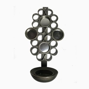 Swedish Wall Candleholder with Mirror, 1970s