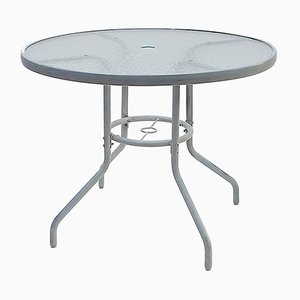 Tavolo da giardino rotondo, anni '70