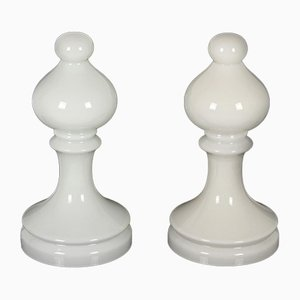 Bishop Chess Glass Lamps by Ivan Jakes for Osvětlovací Sklo Valašské Meziříčí, 1970s, Set of 2
