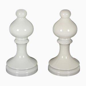 Lámparas Bishop Chess de vidrio de Ivan Jakes para Osvětlovací Sklo Valašské Meziříčí, años 70. Juego de 2