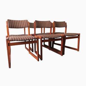 Modell B61 Stühle mit Stoffsitzen von Børge Mogensen für KS Møbler, 1960er, 6er Set