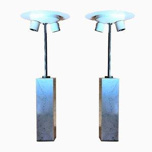 Tischlampen aus Carrara Marmor von Florence Knoll für Knoll International, 1960er, 2er Set