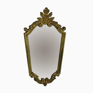Espejo de madera dorada, años 50