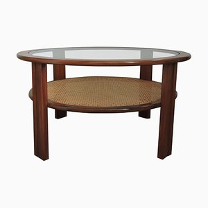 Tavolino da caffè in teak con mensola in canna di G-Plan, anni '70