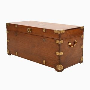 Military Campaign Trunk with Caned Tray, 1850s
