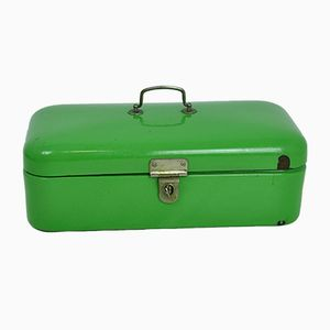 Green Enamel Bread Box, 1960s