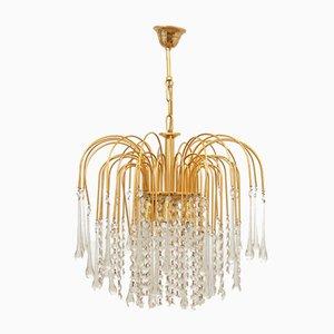 Lampada placcata in oro, Italia, anni '70