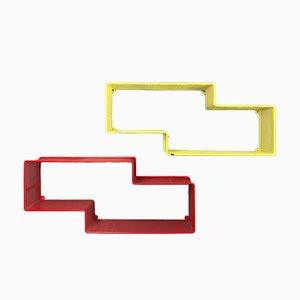 Unità di mensole Mid-Century di Mathieu Matégot, anni '50, set di 2