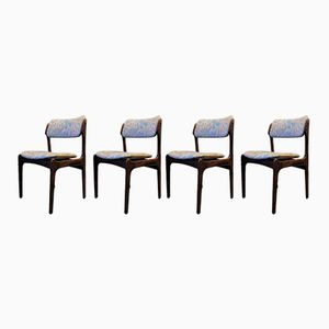 Rosewood Chairs by Erik Buch for O.D. Møbler, 1940s, Set of 4