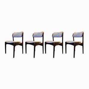 Stühle aus Palisander von Erik Buch für OD Møbler, 1940er, 4er Set