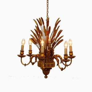 French Wheatsheaf Chandelier, 1960s