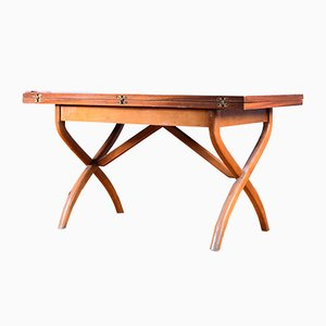 Vintage Nordic Style Table with Folding Tabletop, 1960s