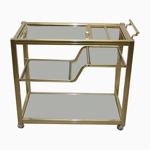 Hollywood Regency Style Golden Cocktail Trolley by Pierre Vandel, 1960s