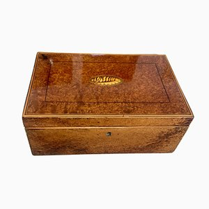 Biedermeier Thuja Roots, Maple & Ebony Box, 1840s