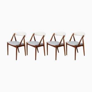 Chaises de Salon Modèle 31 Mid-Century par Kai Kristiansen, Set de 4