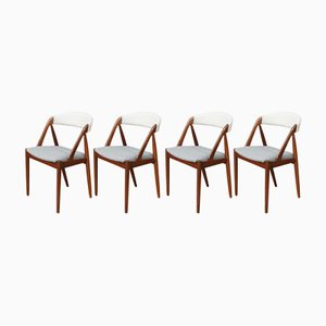 Mid-Century Model 31 Dining Chairs by Kai Kristiansen, Set of 4