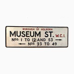 Cartello stradale Museum Street, inizio XX secolo