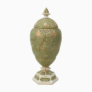 Late Victorian Vase with Lid from Graingers Worcester, 1901