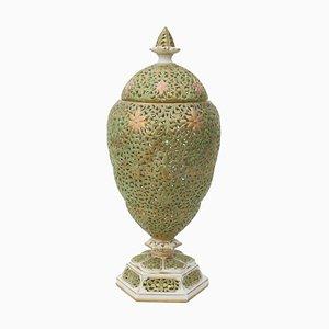 Vase Victorien avec Couvercle de Graingers Worcester, 1901