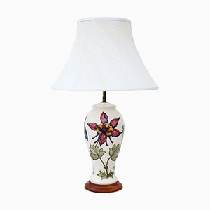 Vintage Ceramic Table Lamp with Shade from Moorcroft