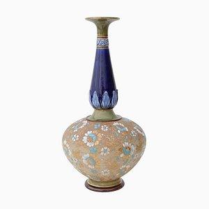 Große antike Slaevet Vase im Jugendstil von Royal Doulton