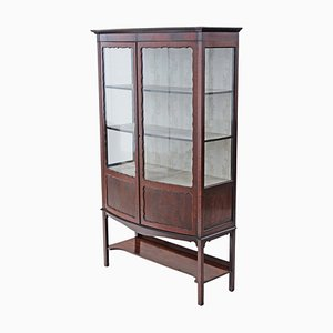 Antique Mahogany Bow Front Display Cabinet