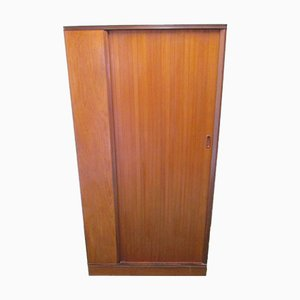 Vintage Teak Wardrobe with Sliding Door from Design Center London